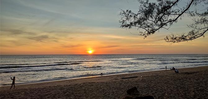 夕阳西下 宁静惬意的泰国西海岸